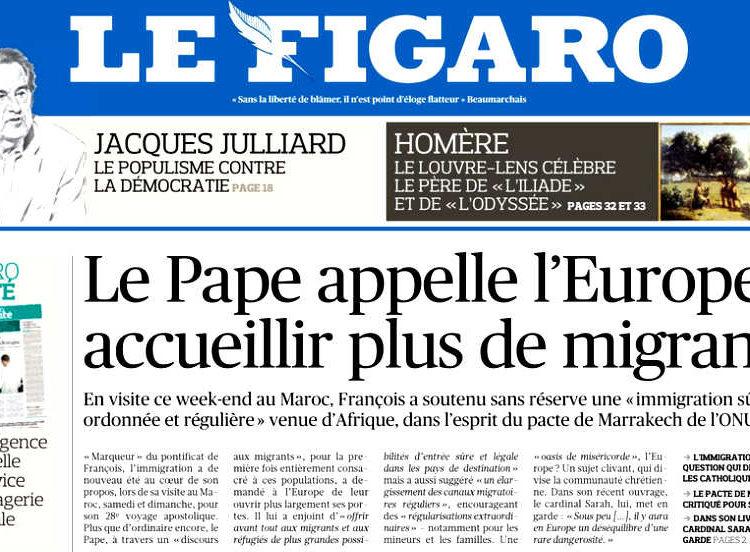 Papa Francesco in Marocco: accogliamo Cristo quando accogliamo i migranti