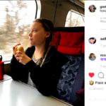 Greta Thunberg in treno