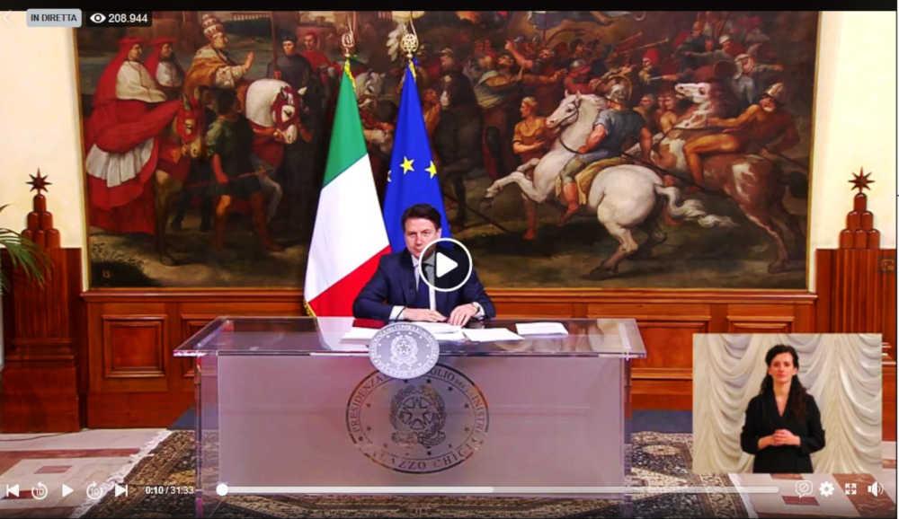Giuseppe Conte diretta Facebook