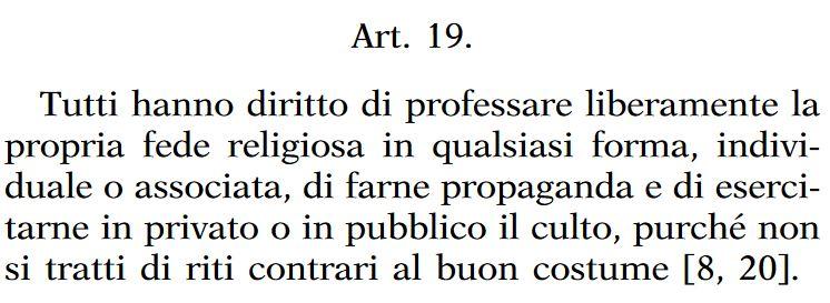 articolo 19 Costituzione