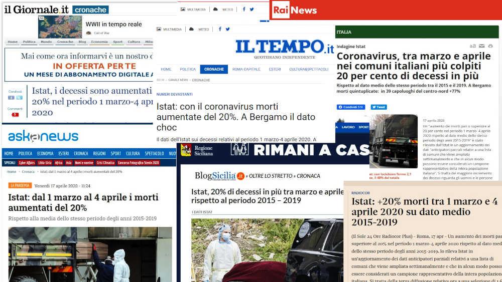 Fake News coronavirus Istat