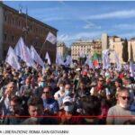 Piazza San Giovanni durante al Marcia della Liberazione