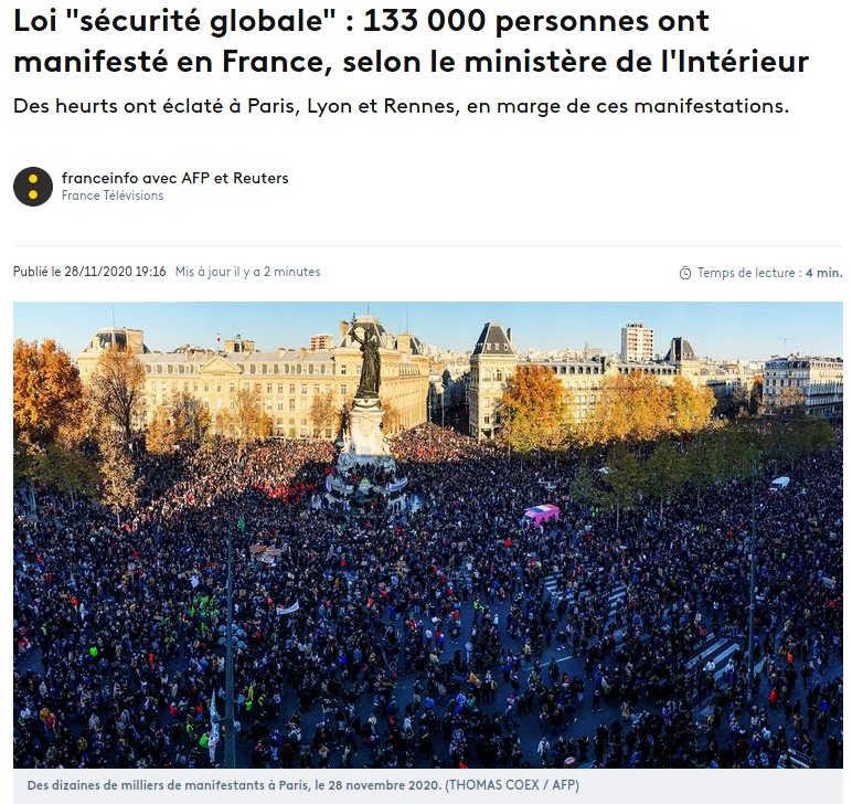 legge-sicurezza-globale-proteste-Parigi
