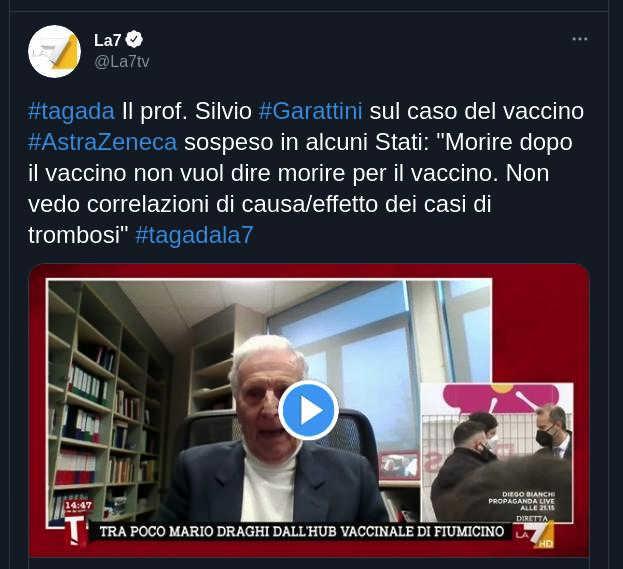 Il farmacologo Garattini a La7